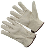 B grade grain driver, patch palm, keystone thumb, unlined cowhide driver. (SG-4364P)