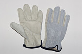 Grain cowhide driver, patch palm, keystone thumb, split back, unlined cowhide driver. (SG-4364PSB)