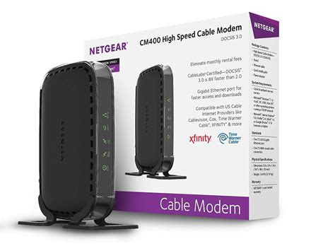 Time Warner Cable Modem Netgear Docsis 3 Comcast Approved Modem Reatil Pic (No Box Included)