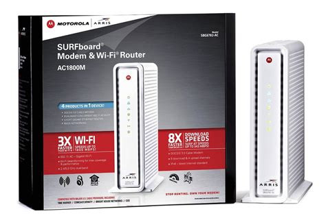 Wireless Time Warner Modem Motorola SBG6782 Dual Band A/C Wireless Modem Retail (box not included)