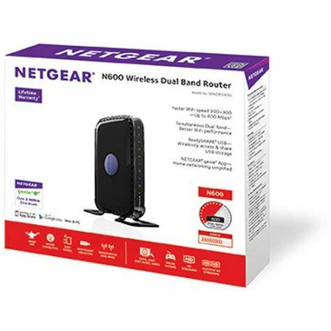 Netgear N600 Dual Band Wireless Router WNDR3400 4-Port Switch 802 11 A B G N
