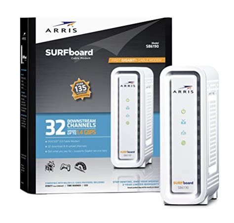 Arris SB6190 Best Docsis 3 Modem Fast Comcast Modem Retail Picture (No box Included)
