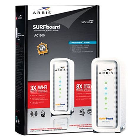Arris SBG6700-ac Docsis 3 Wireless Modem**(Comcast/Xfinity, Time Warner  Cable, Cox, CableONE, Cablevision, Charter, Suddenlink, Mediacom,  Brighthouse