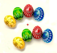 SAVE 13 $ on 2 sets of wooden Easter eggs decoration - Lithuanian MARGUCIAI