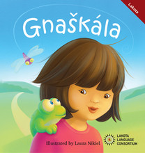 What has little legs and yellow eyes and slimy skin? My new pet, Froggy! I do everything I can to make Froggy happy!    Gnaškála (Froggy) is a monolingual Lakota picture book (no English translations) designed for early elementary and preschool children. Illustrations by Laura Nikiel.  22 pages including English Glossary
