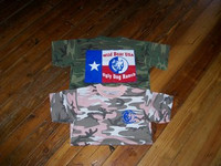 CAMO TEXAS FLAG HOG DOG TSHIRT