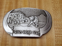 WILD BOAR USA BELT BUCKLE