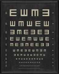 tumbling e eye chart vintage framed wall art