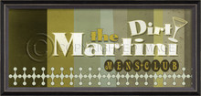 dirty martini mens club framed wall art