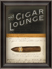 cigar lounge vintage ad framed wall art