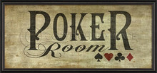 poker room framed wall art