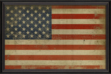American flag framed wall art