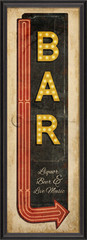 vintage bar sign framed wall art