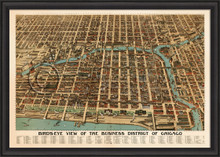Chicago aerial view map