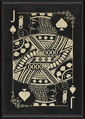 Jack of Spades white on black