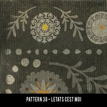 Vintage Vinyl Floor Cloth Pattern 38 L Etat C Est Pura