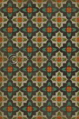 Pattern 33 Annas Garden vinyl floor cloth. This is the design for all rectangle sizes. The smaller the size, the smaller the pattern, and vice versa.
