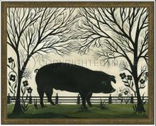 Animal Silhouette Pig