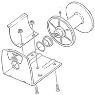 87-20409 - Superwinch Drum & Baseplate Assembly