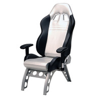 PITSTOP™ GT RECEIVER CHAIR (SILVER)