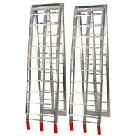 JobPro Silver Aluminium Arched Folding Loading Ramps
