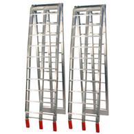 JobPro Silver Aluminium Arched Folding Loading Ramps