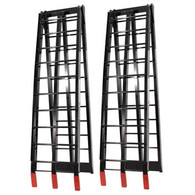 JobPro Black Aluminium Arched Folding Loading Ramps