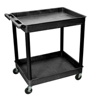 Luxor TC11-B Large Tub Cart with 2 shelves