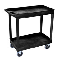 Luxor EC11HD-B 18 x 32 Tub Cart with 2 shelves