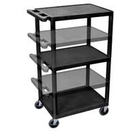 Luxor LEDUO-B Endura Multi-Height AV Cart 3 shelves