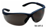 PRO-SAFE Hi-Voltage AC Safety Glasses, Gray Lens, Blue Frame - 56-147-2