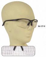 PRO-SAFE Mag Reader Bifocal Safety Glasses, Clear Lens, 2 Diopter - 56-177-9