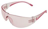 PRO-SAFE Eva Women's Safety Glasses, Pink Lens, Scratch Resistant, Pink Frame - 56-154-8