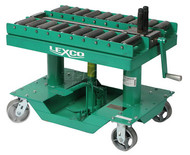 "Lexco Manual Push Pull Die Handling Conveyor, Table Width 20"", Table Length 30"" - 499206"
