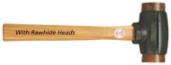 Garland Split Head Hammers With Rawhide Heads