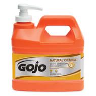 GOJO® NATURAL* ORANGE™ Smooth Hand Cleaner 1/2 Gallon Pump Bottle - 96-649-9
