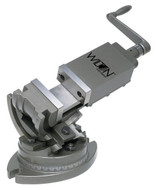 """Wilton 3-Axis Precision Tilting Vise, 3"""" Jaw Width, 1-15/16"""" Jaw Depth - 11701"""