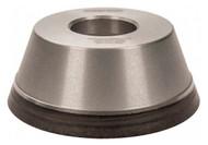 "Norton Diamond Cup Wheel, Type 11V9, 3-3/4"" Diameter, 1-1/4"" Hole Size, 1-1/2"" Thickness, 120 Grit, Fine Grade, 1/8"" Superabrasive Depth - 36046102"