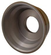 "Norton Diamond Cup Wheel, Type 11V9, 3-3/4"" Diameter, 1-1/4"" Hole Size, 1-1/2"" Thickness, 150 Grit, Very Fine Grade, 1/16"" Superabrasive Depth - 36046120"