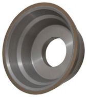 "Norton Diamond Cup Wheel, Type 11V9, 3-3/4"" Diameter, 1-1/4"" Hole Size, 1-1/2"" Thickness, 150 Grit, Very Fine Grade, 1/8"" Superabrasive Depth - 36046122"