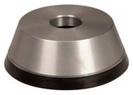 "Norton Diamond Cup Wheel, Type 11V9, 5"" Diameter, 1-1/4"" Hole Size, 1-3/4"" Thickness, 150 Grit, Very Fine Grade, 1/8"" Superabrasive Depth - 36046126"