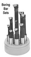 """Precise Carbide Tipped Boring Bar Set, 1"""" Shank (6 Pieces) - E-100"""