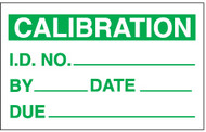SPI Miniature Clear Cover Calibration Labels