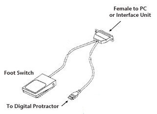 Foot Switch w/SPC Cable for Digital Level - PRO361 - Penn ... on servo motor wiring diagram, traffic signal wiring diagram, start stop station wiring diagram, fire alarm pull station wiring diagram, m8 3-pin wiring diagram,