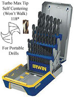 IRWIN TOOLS 29 Piece Jobbers Drill Set - 3018004