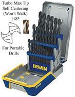 IRWIN TOOLS 29 Piece Jobbers Drill Set - 3018003