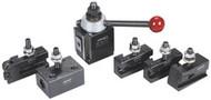 """Phase II Wedge Type Tool Post Set, 400 Tool Post Series, CA Series, 14-20"""" Swing - 35-202-1"""