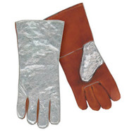 Steiner 02122 Aluminized back, Side Split cowhide Palm Welding Gloves