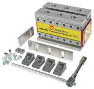 """Earth-Chain ECB Magnetic Workholding Vise, 6.8"""" x 3"""" x 3"""", 1650 lbs. Holding Power - ECB-075"""