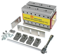 """Earth-Chain ECB Magnetic Workholding Vise, 7.3"""" x 4.2"""" x 4.2"""", 2640 lbs. Holding Power - ECB-120"""